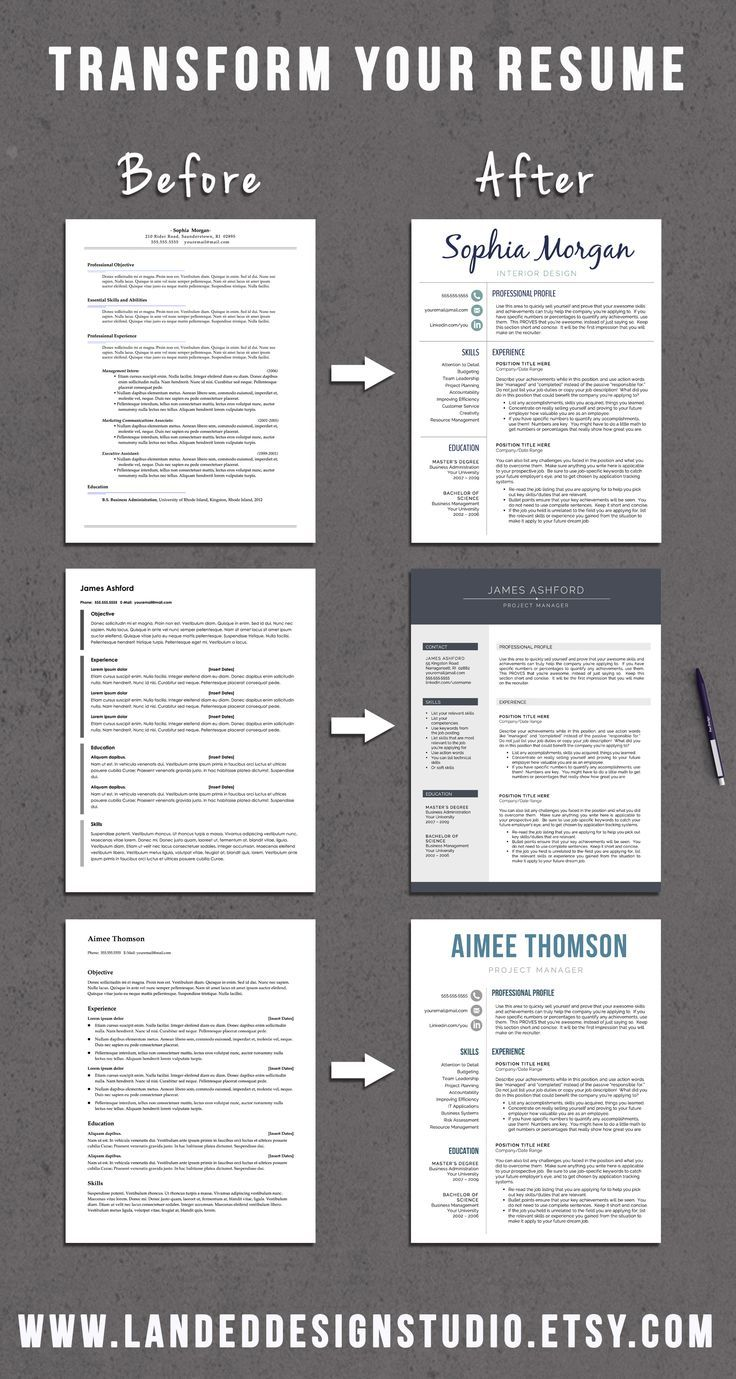 Resume Examples for Jobs with Experience Of Professional Resume Templates for Word & Mac Pages by Getlanded