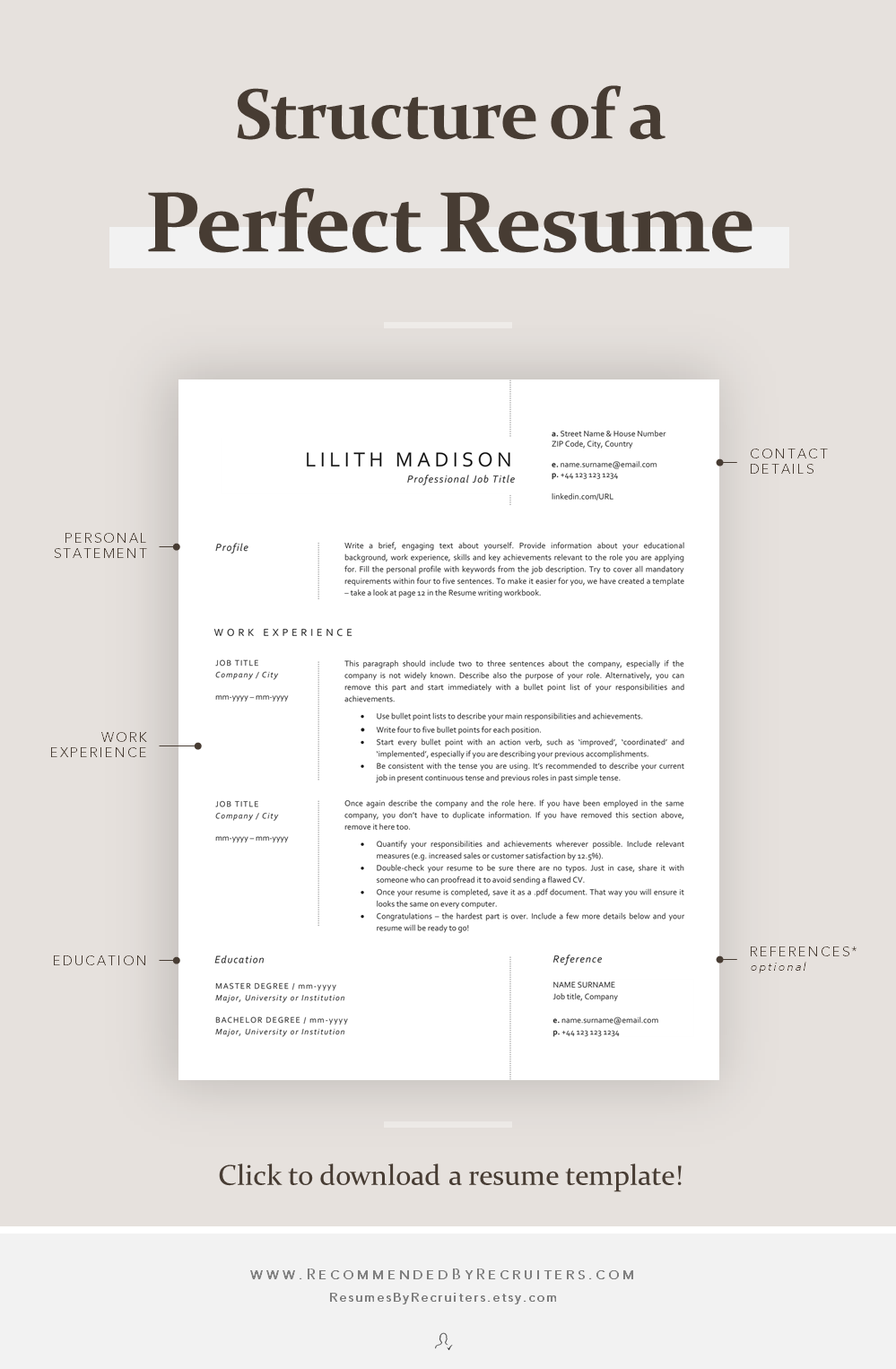 Resume Examples for Jobs with Experience Of Structure Of A Perfect Resume How to Structure Cv Main Parts Of A Resume Curriculum Vitae Advice