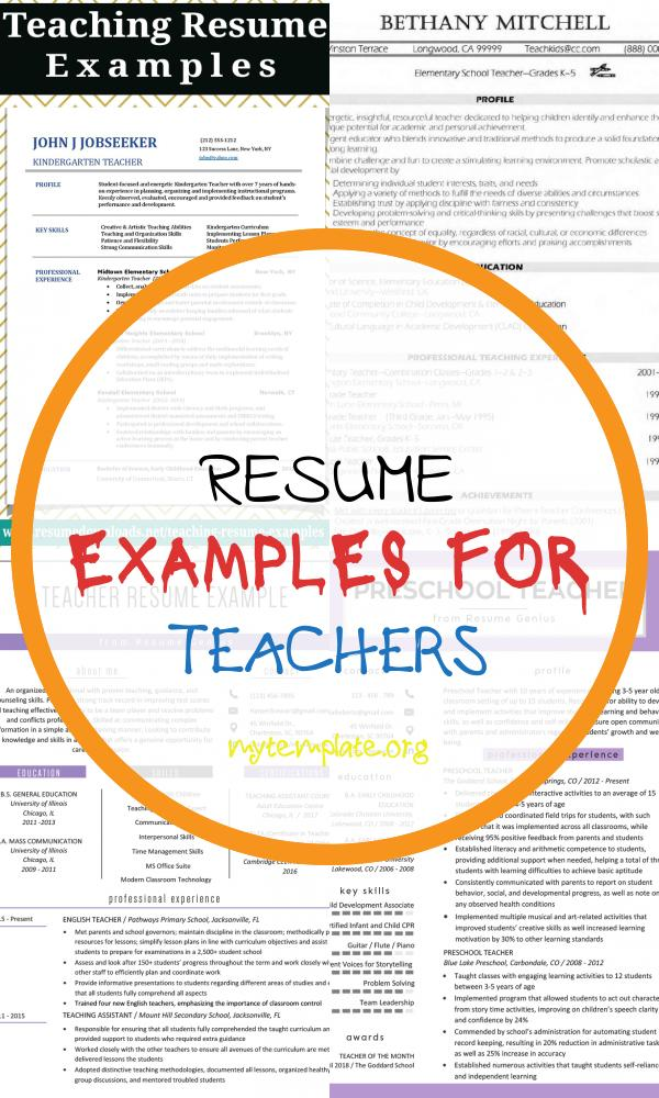 resume examples for teachers of teaching resume examples