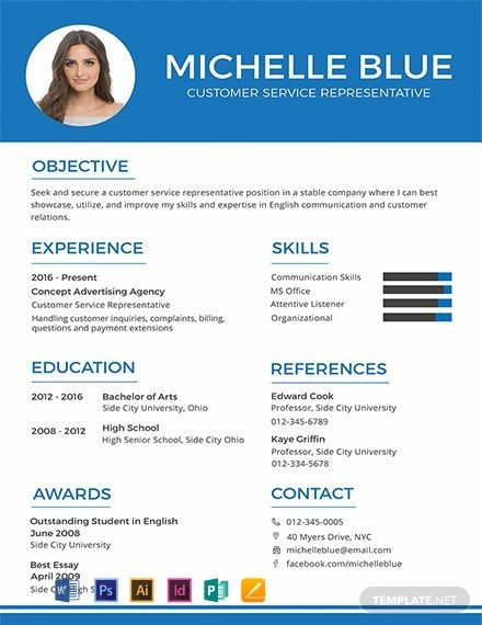 Resume for Customer Service Job Of Free Resume Cv format Template Word Doc Psd Indesign Apple Mac Pages Illustrator