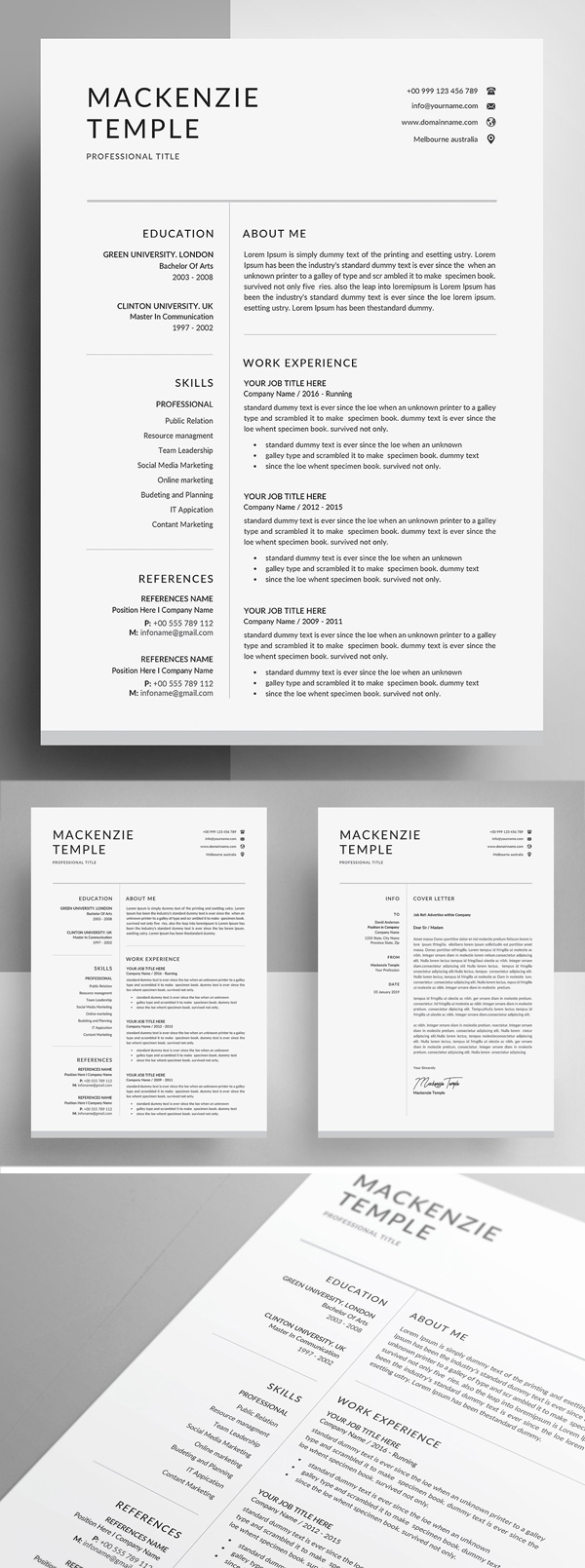 Resume Template Cover Letter Examples Of 25 Best Resume Templates for 2020 Graphics Design