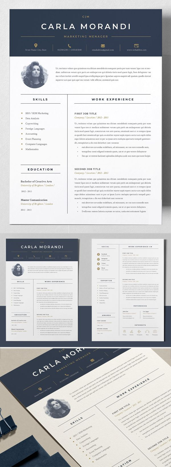 Resume Template Cover Letter Examples Of Minimal Resume Template