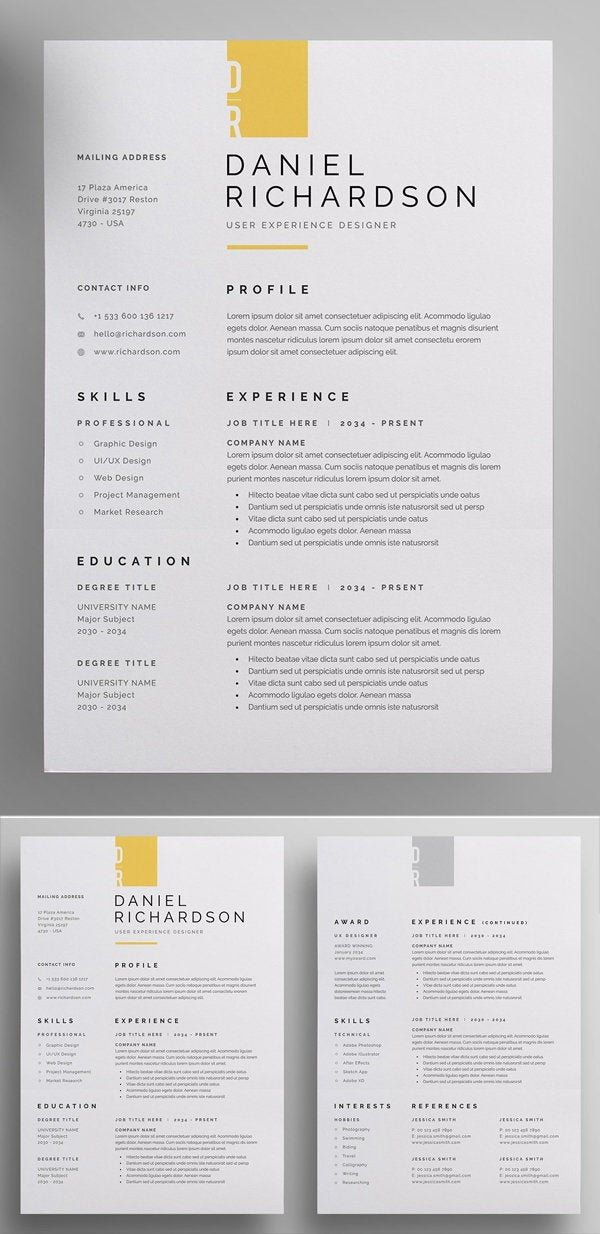 Resume Template Cover Letter Examples Of Professional Resume Cv Cover Letter Word Resume Editable Resume Resume Template
