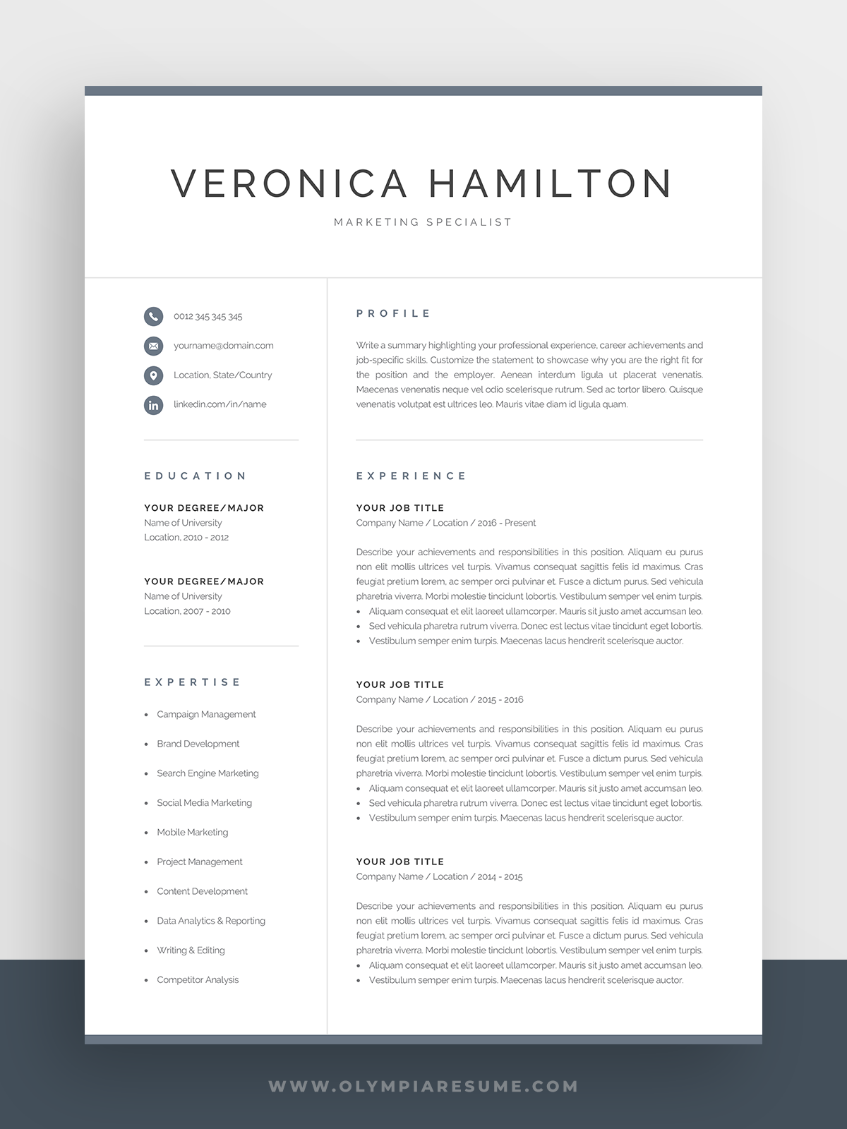 resume template free downloadable simple of professional