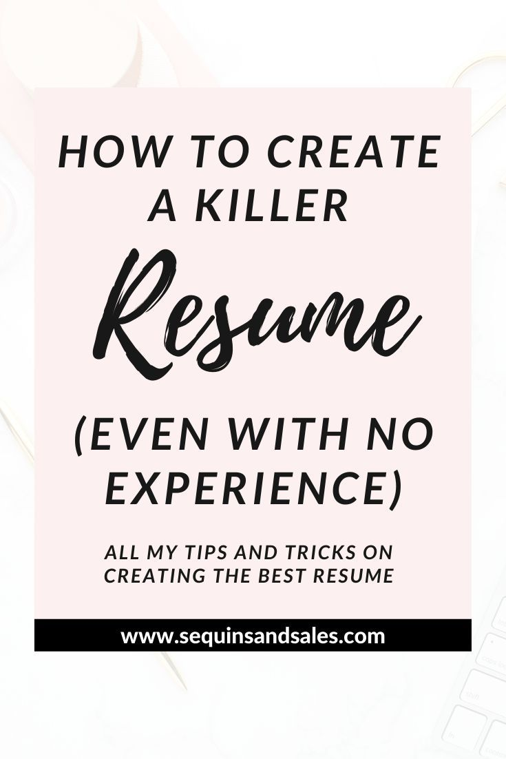 Resume with No Job Experience Of How to Create A Killer Resume even with No Experience