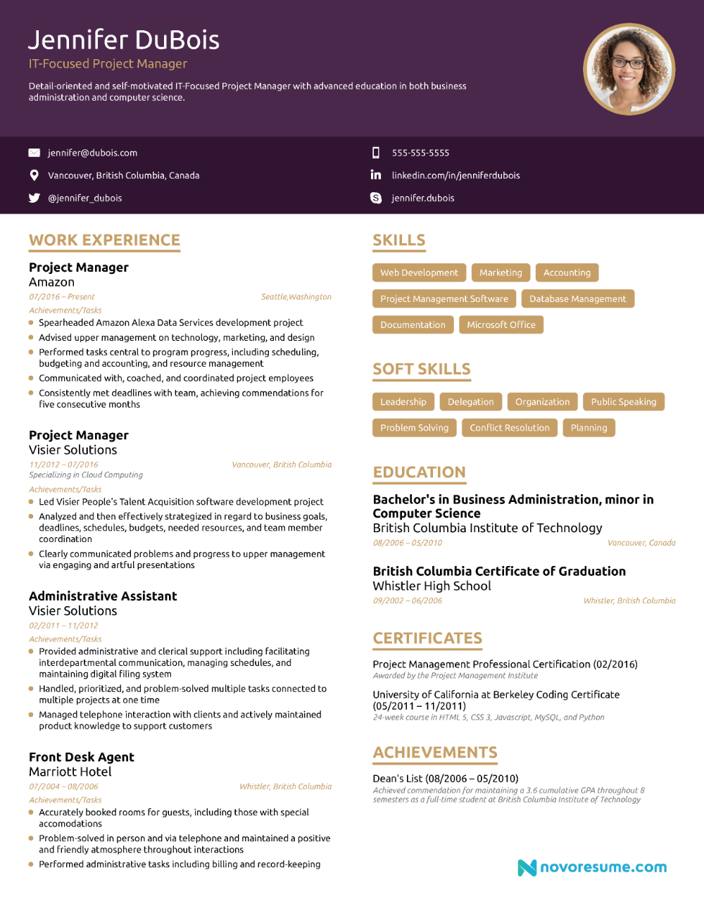 Resumes for Project Managers Of Project Manager Resume [2019] Example & Full Guide