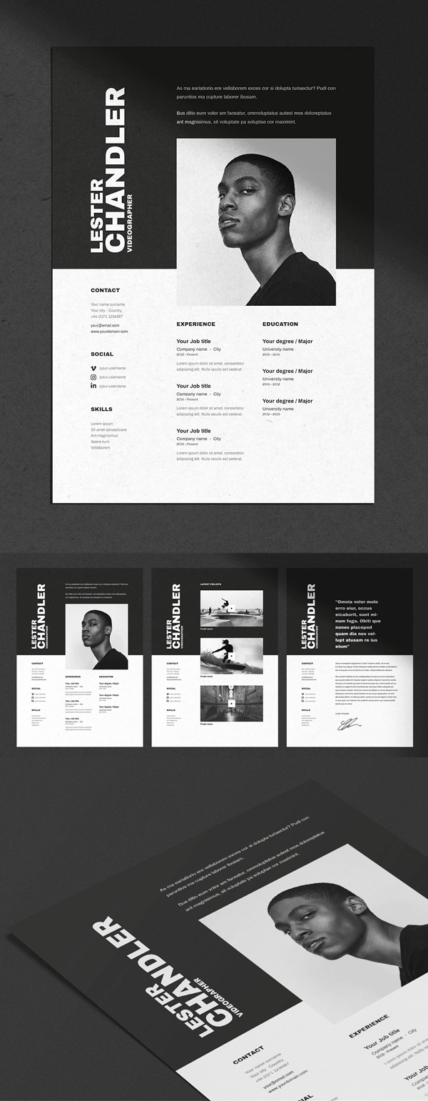 Sending A Cover Letter and Resume by Email Of 30 Creative Clean Cv Resume Templates with Cover Letters