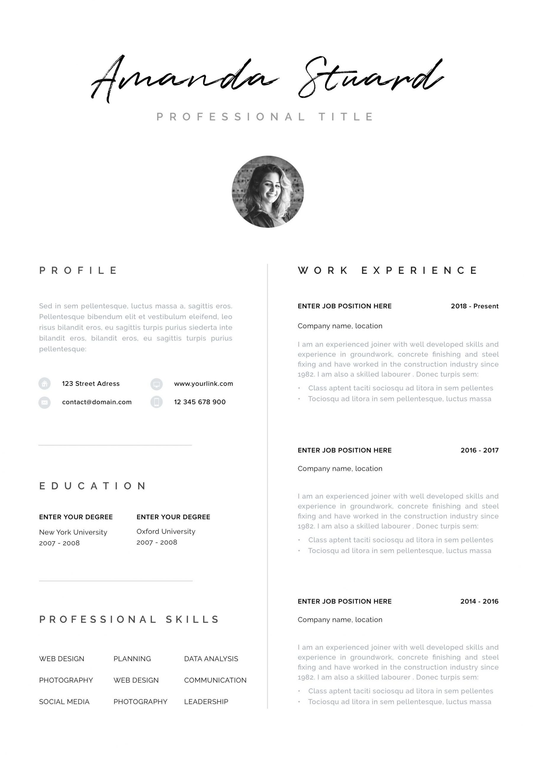 Sending A Cover Letter and Resume by Email Of Modern Resume Template Cv Template Cover Letter