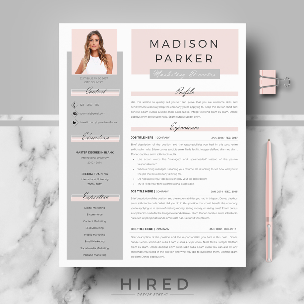 Sending A Cover Letter and Resume by Email Of R39 Madison Parker Creative & Modern Resume Cv Template for Word & Pages