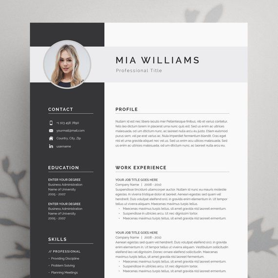 Sending A Cover Letter and Resume by Email Of Resume Template Resume Template Word Resume with Resume with Cover Letter Professional Resume Cv Template Cv Modern Resume Word