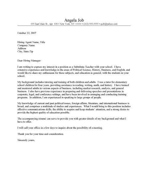 Simple Cover Letter for Resume Samples Of Cover Letter Template for Resume for Teachers