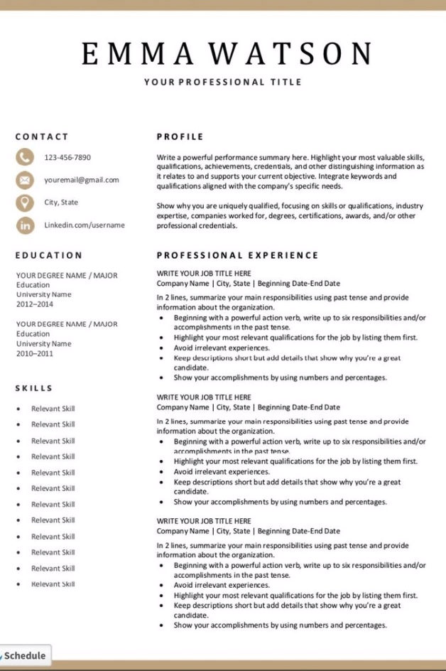 Simple Resume Template Free Of Free Resume Templates