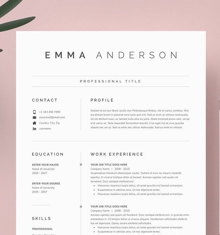 Simple Resume Template Free Of Resume Template