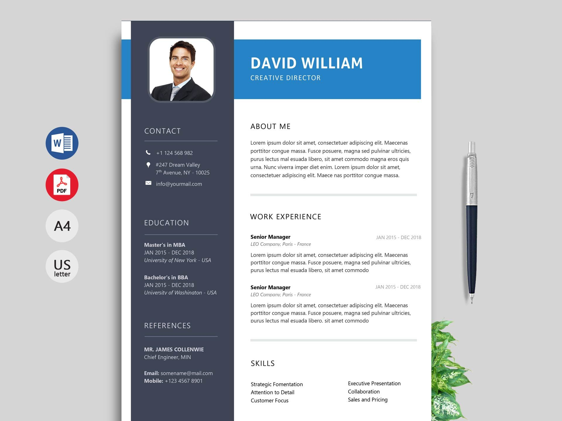 Simple Resume Template Free Of Simple Resume format & Cv Template Free Download 2020