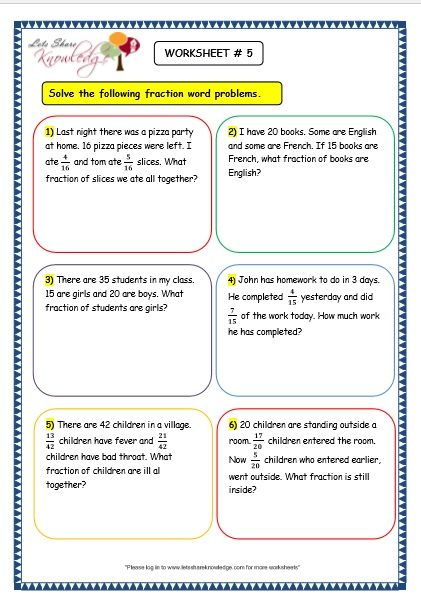 Subtraction Word Problems For Grade 3 Of Grade 3 Maths Worksheets 7 9  Fraction Word Problems - Free Templates