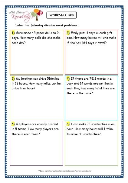 Subtraction Word Problems For Grade 3 Of Grade 3 Maths Worksheets Division  6 9 Division Word Problems - Free Templates