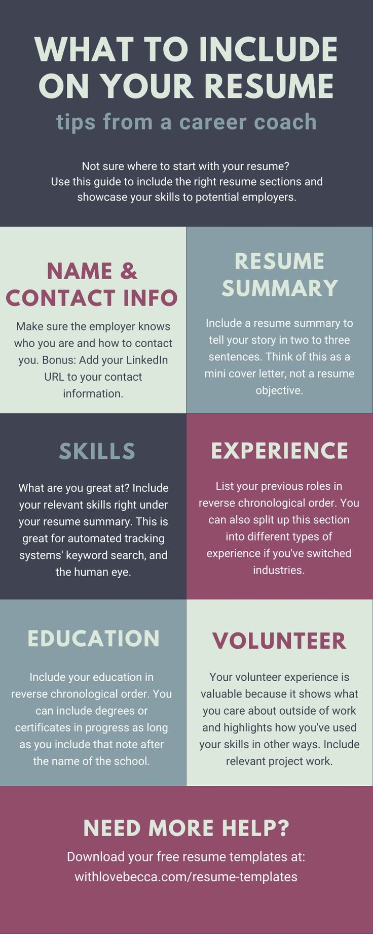 Summary Section Of Resume Of Resume Templates with Love Becca