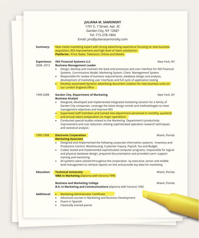 Summary Section Of Resume Of Tips On How to Write A E Page Resume