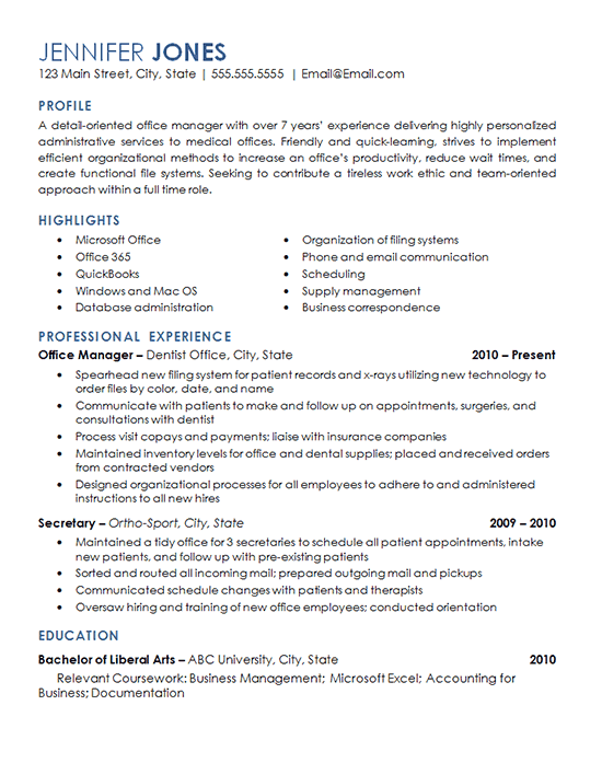 Warehouse Management Resume Sample Of View the Resume for An Office Management Professional with Experience Overseeing Daily Operations Of A Dental Office and Medical Facility