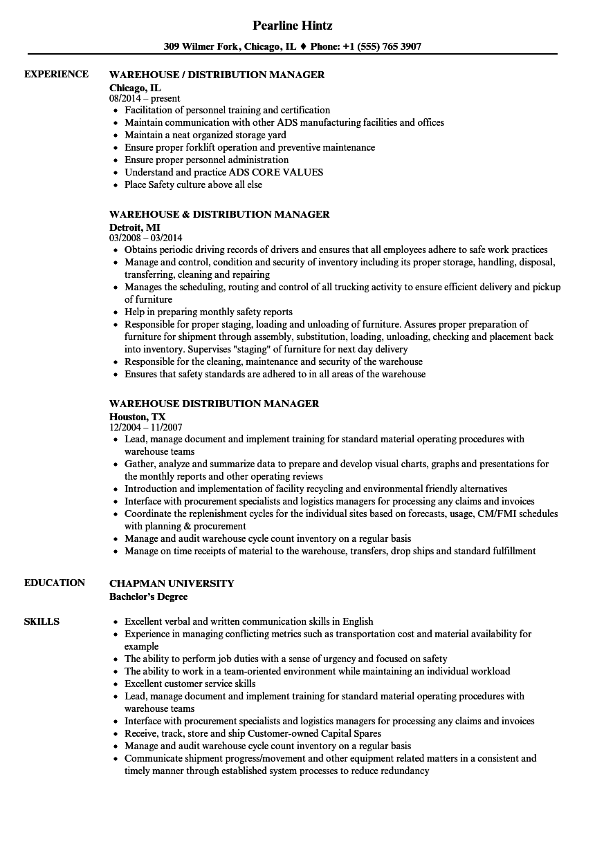 Warehouse Management Resume Sample Of Warehouse Distribution Manager Resume Samples Velvet Jobs Great Warehouse Distribution Manager Resume Samples Velvet Jobs Warehouse Manager Resume Sample It is Well Known that Warehouse Distribution Manager Resume Samples Velvet Jobs are Most Important Documents when You are Searching for the Job Opportunities In Any Pany before Showing Up for the Interview A Person Must Send the Curriculum Vitae to the Future Employer for Proving Your Aptness after Viewing the Detailed Details if the