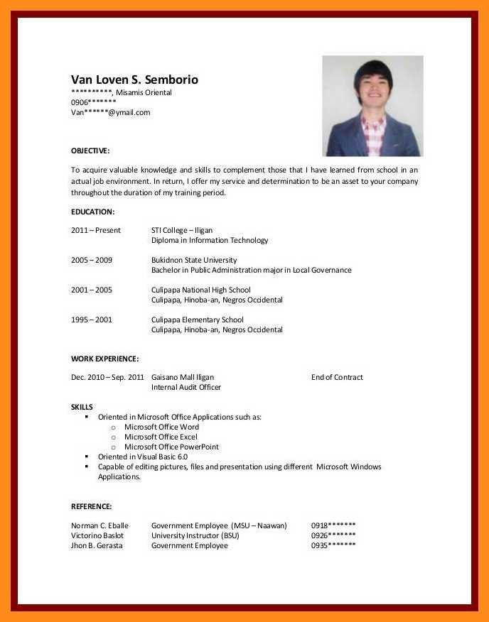 Work Experience Resume Sample Of 12 13 Cv Samples for Students with No Experience