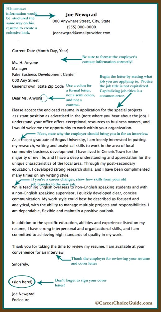 Work Experience Resume Sample Of Sample Cover Letter for A New Graduate