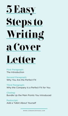 Writing A Cover Letter for A Job Of Career Advice 5 Easy Steps to Writing A Cover Letter